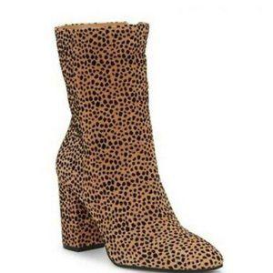 Jessica Simpson Kaelin Cheetah Print Leather Boots